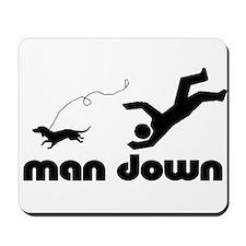 man down dachshund Mousepad
