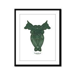 Celtic Doberman Framed Panel Print