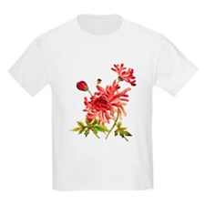 Faux Embroidery Chrysanthemum T-Shirt