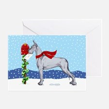 Great Dane Blue Mail Greeting Card