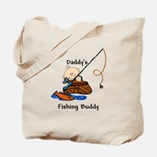 Daddy's Fishing Buddy Tote Bag