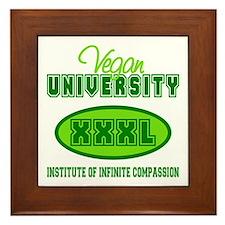 Vegan University Framed Tile