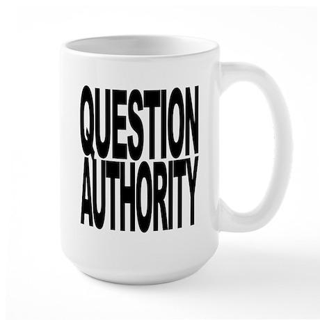 Question Authority Large Mug