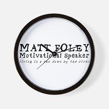 Matt Foley Wall Clock