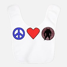 Peace Love Werewolves Bib
