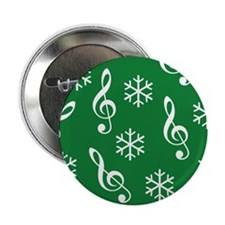 """Treble Clef Snowflake -g- 2.25"""" Button (10 pack)"""