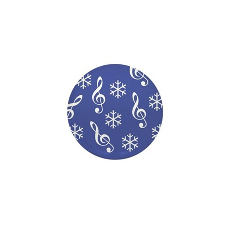 Treble Clef Snowflake -b- Mini Button (10 pack)