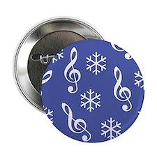 "Treble Clef Snowflake -b- 2.25"" Button (10 pack)"