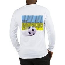 Soccer Flag Ukraine (B) Long Sleeve T-Shirt