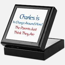 Charles Is In Charge Keepsake Box