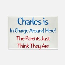 Charles Is In Charge Rectangle Magnet (10 pack)