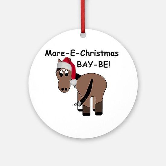 Mare-E-Christmas BAY-BE! Ornament (Round)