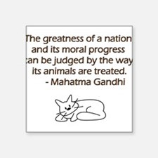 Gandhi Cat Quote Sticker