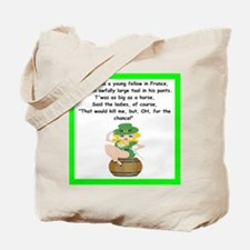 racy limerick Tote Bag
