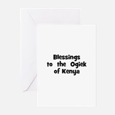 Blessings  to  the  Ogiek of  Greeting Cards (Pk o