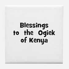 Blessings  to  the  Ogiek of  Tile Coaster