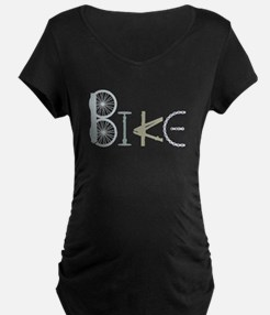 Bike Word from Bike Parts Maternity T-Shirt