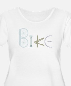 Bike Word from Bike Parts Plus Size T-Shirt