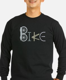 Bike Word from Bike Parts Long Sleeve T-Shirt