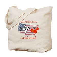 Cute Chinese adoption Tote Bag