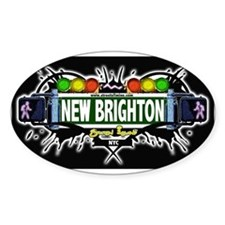 New Brighton (Black) Oval Decal