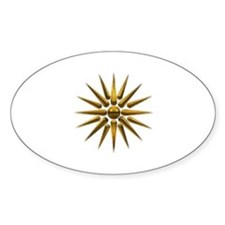 Vergina Star Oval Decal