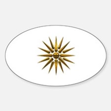 Vergina Star Oval Decal