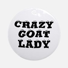 Crazy Goat Lady Ornament (Round)