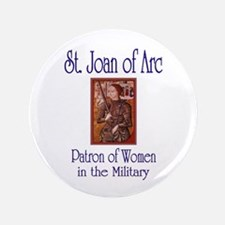 """St. Joan of Arc 3.5"""" Button"""