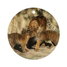 Helaine's Tiger Cubs Ornament (Round)