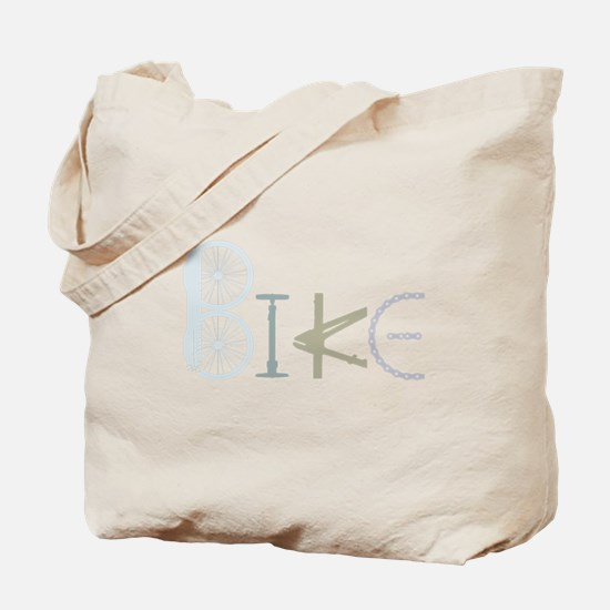 Bike Word from Bike Parts Tote Bag