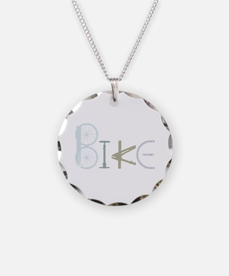 Bike Word From Bike Parts Necklace