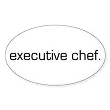 Executive Chef Oval Decal