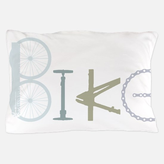 Bike Word from Bike Parts Pillow Case