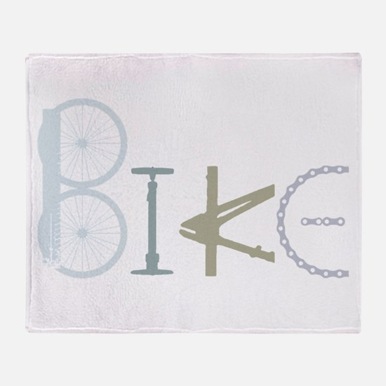 Bike Word from Bike Parts Throw Blanket