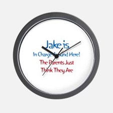 Jake Is In Charge Wall Clock