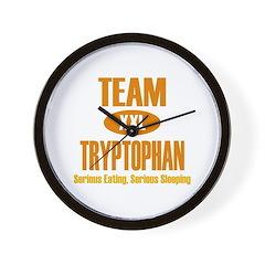 Team Tryptophan Wall Clock