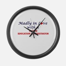 Madly in love with a Higher Educa Large Wall Clock