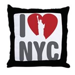 I Love NYC Throw Pillow