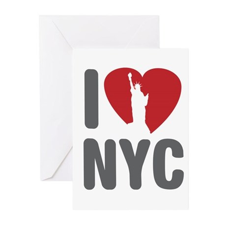 I Love NYC Greeting Cards (Pk of 10)