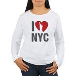 I Love NYC Women's Long Sleeve T-Shirt
