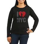 I Love NYC Women's Long Sleeve Dark T-Shirt