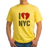 I Love NYC Yellow T-Shirt