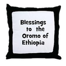 Blessings  to  the  Oromo of  Throw Pillow