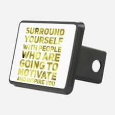 Surround Yourself Inspirational Quote Dark Gold Hi