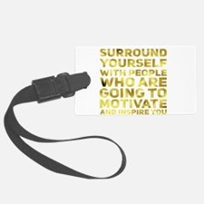 Surround Yourself Inspirational Quote Dark Gold Lu