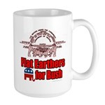 Flat Earthers for Bush Large Mug
