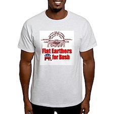 Flat Earthers for Bush Ash Grey T-Shirt