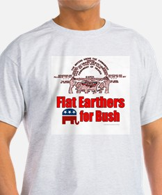Flat Earthers for Bush Ash Grey T-Shirt