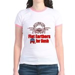 Flat Earthers for Bush Jr. Ringer T-Shirt